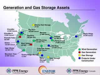 Generation and Gas Storage Assets