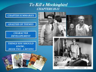 To Kill a Mockingbird CHAPTERS 28-31