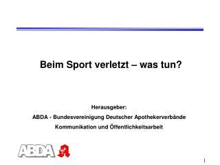 Beim Sport verletzt – was tun?