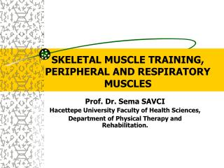 SKELETAL MUSCLE TRAINING, PERIPHERAL AND RESPIRATORY MUSCLES