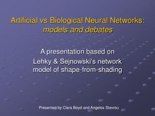 Artificial vs Biological Neural Networks: models and debates