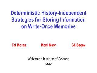 Weizmann Institute of Science Israel