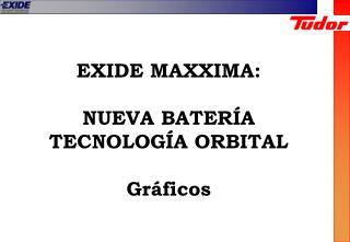 EXIDE MAXXIMA: NUEVA BATER�A  TECNOLOG�A ORBITAL Gr�ficos