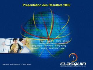 Réunion d'information 11 avril 2006
