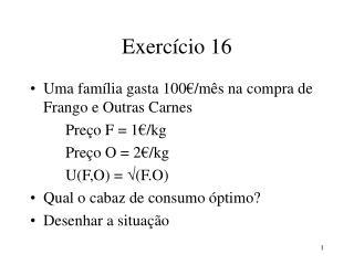 Exerc�cio 16