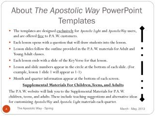 About  The Apostolic Way  PowerPoint Templates