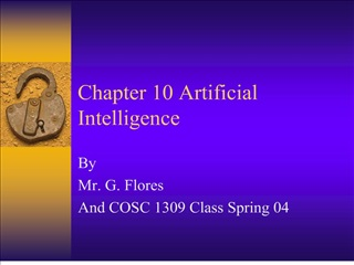 Chapter 10 Artificial Intelligence