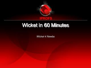 Wicket in 60 Minutes