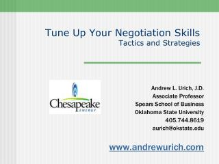 Tune Up Your Negotiation Skills Tactics and Strategies