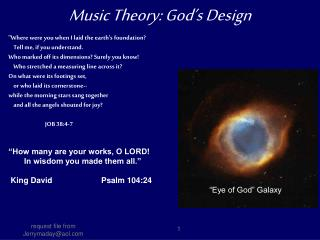 Music Theory: God�s Design