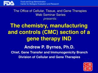 The chemistry, manufacturing and controls (CMC) section of a gene therapy IND