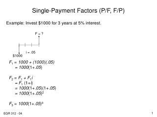 Single-Payment Factors (P/F, F/P)