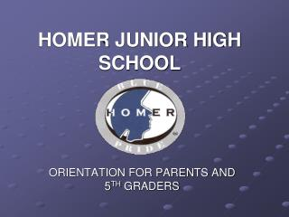 HOMER JUNIOR HIGH SCHOOL