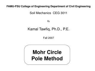 Mohr Circle Pole Method