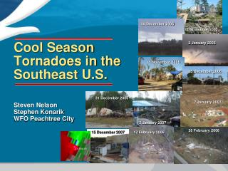 Cool Season Tornadoes in the Southeast U.S.