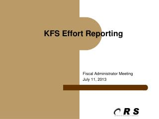 KFS Effort Reporting