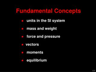 Fundamental Concepts