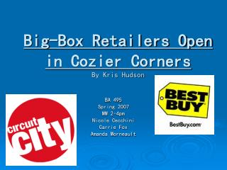 Big-Box Retailers Open in Cozier Corners By Kris Hudson