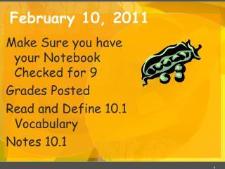 February 10, 2011