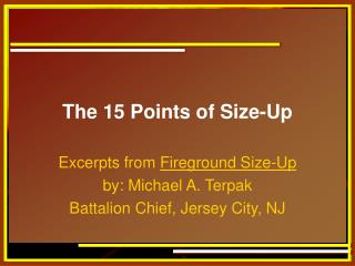 The 15 Points of Size-Up
