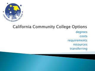California Community College Options