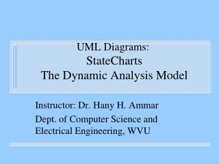 UML Diagrams:  StateCharts  The Dynamic Analysis Model