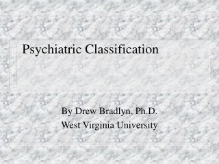 Psychiatric Classification