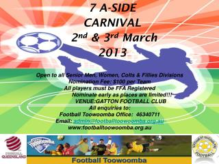 THE  FESTIVAL OF FOOTBALL    Invites you to our opening event!!!