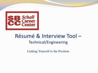 Résumé & Interview Tool –  Technical/Engineering
