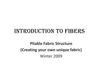 Introduction to Fibers