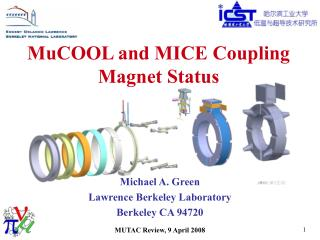 MuCOOL and MICE Coupling Magnet Status