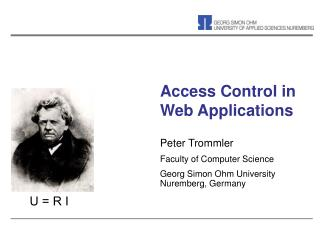 Access Control in Web Applications