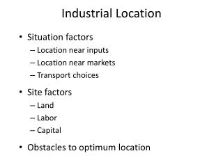 Industrial Location