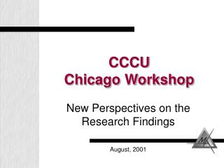 CCCU Chicago Workshop