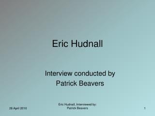 Eric Hudnall