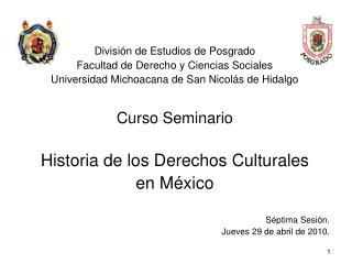 Divisi�n de Estudios de Posgrado   Facultad de Derecho y Ciencias Sociales Universidad Michoacana de San Nicol�s de Hid