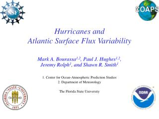 Hurricanes and  Atlantic Surface Flux Variability