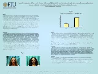 Infant Discrimination of Faces in the Context of Dynamic Multimodal Events: Predictions from the Intersensory Redundanc
