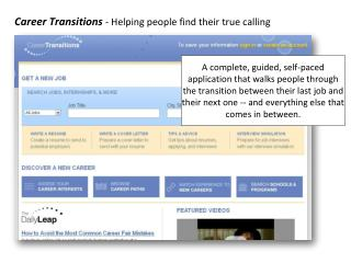 Career Transitions  - Helping people find their true calling
