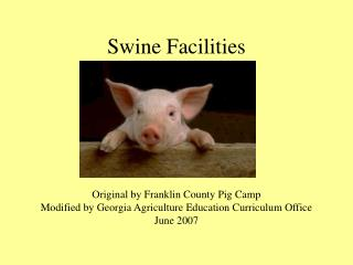 Swine Facilities