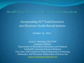 Health Care Transition Learning Collaborative