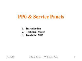 PP0 & Service Panels