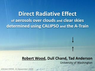 Direct  R adiative E ffect  of aerosols over clouds  and  clear skies determined using CALIPSO  and  the A-Train