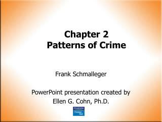 Chapter 2 Patterns of Crime