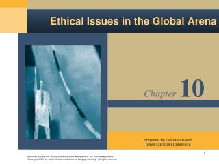 Ethical Issues in the Global Arena