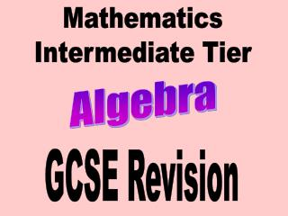 Mathematics Intermediate Tier