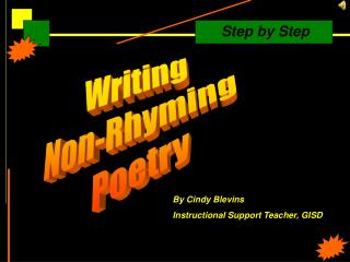 Writing  Non-Rhyming  Poetry