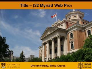 Title – (32 Myriad Web Pro )