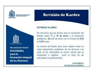 Revisión de Kardex