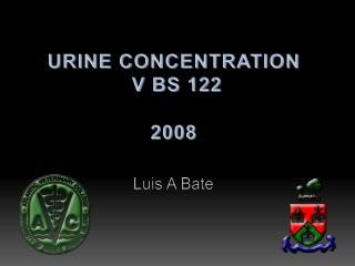 URINE CONCENTRATION  V BS 122 2008
